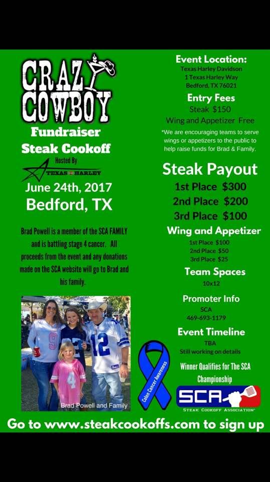 Crazy Cowboy Fundraiser Steak Cook Off
