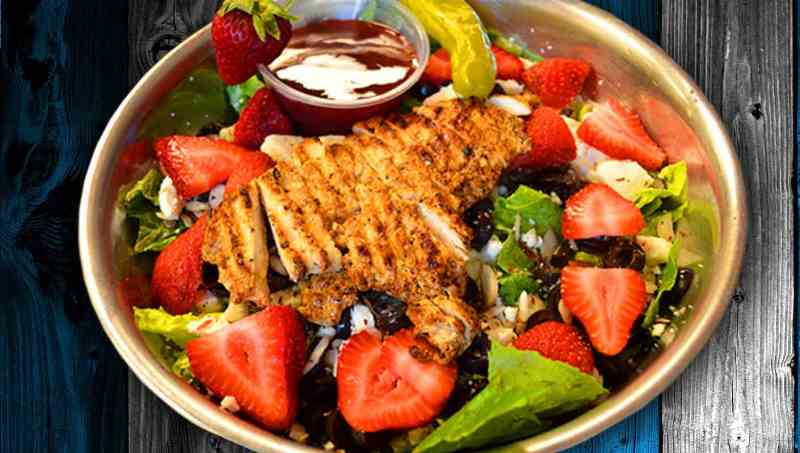 Grilled Chicken & Fresh Strawberry Salad